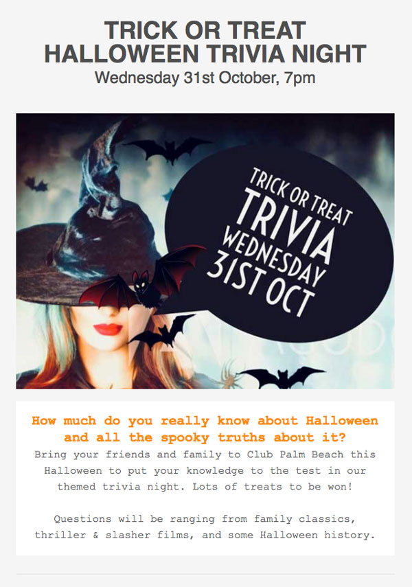 witch & bats for spooky trivia